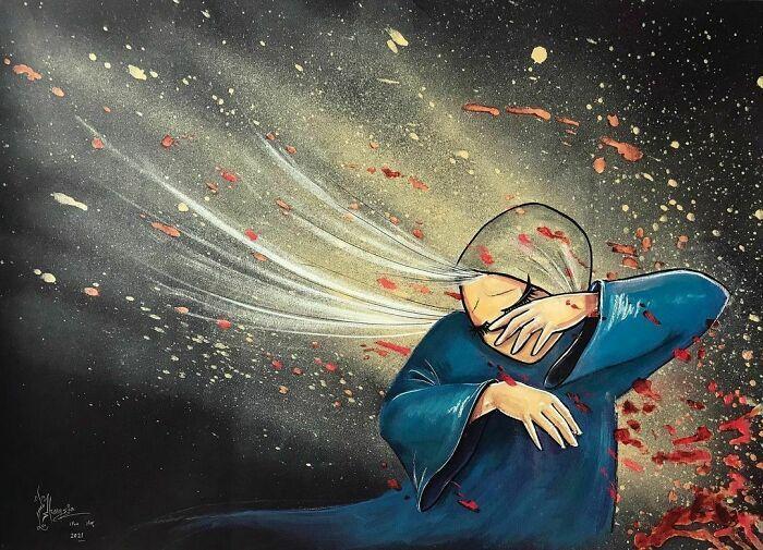 42 obras de arte tocantes da primeira artista de rua feminina do Afeganistão, Shamsia Hassani 37