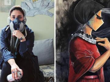42 obras de arte tocantes da primeira artista de rua feminina do Afeganistão, Shamsia Hassani 34