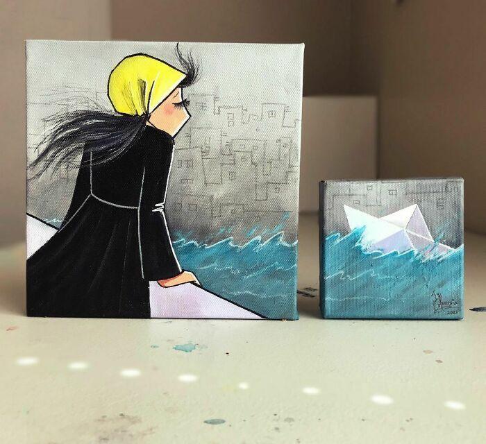 42 obras de arte tocantes da primeira artista de rua feminina do Afeganistão, Shamsia Hassani 38