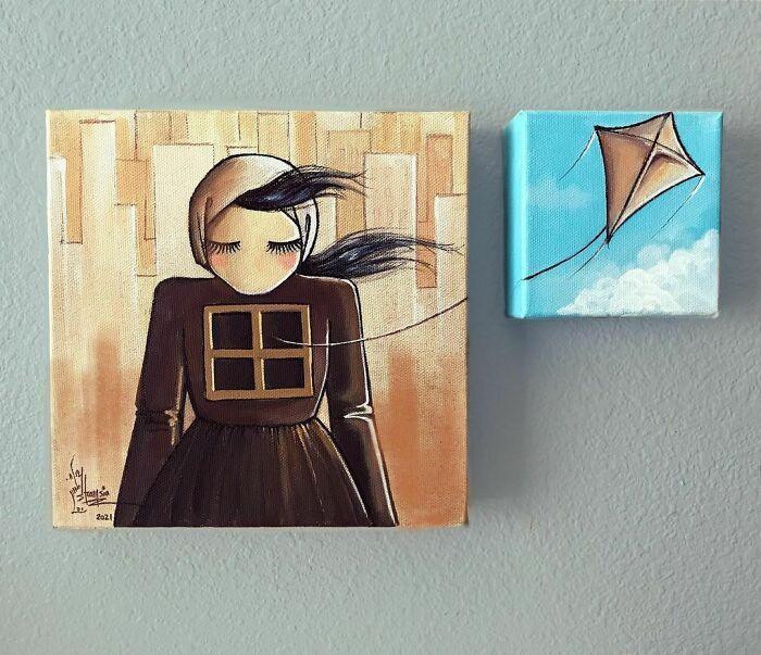 42 obras de arte tocantes da primeira artista de rua feminina do Afeganistão, Shamsia Hassani 39