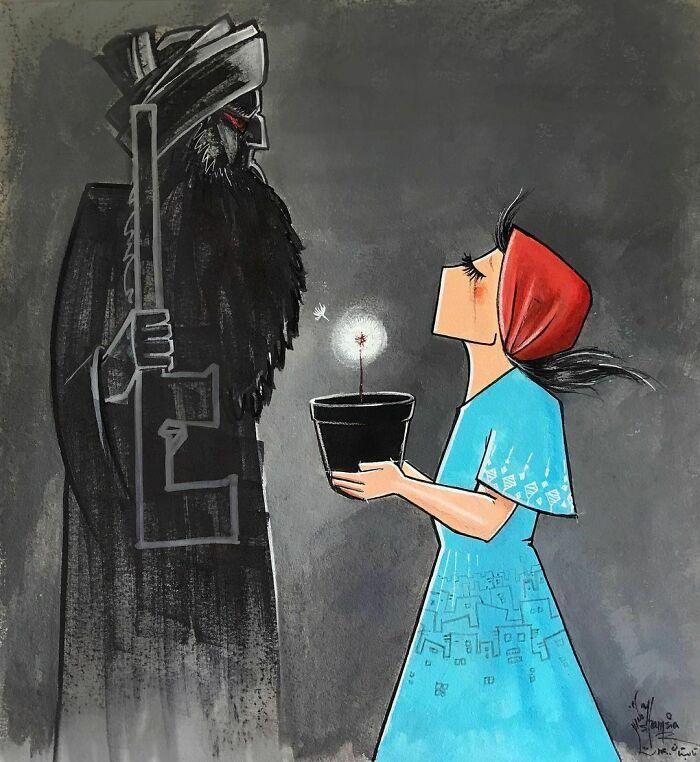 42 obras de arte tocantes da primeira artista de rua feminina do Afeganistão, Shamsia Hassani 42