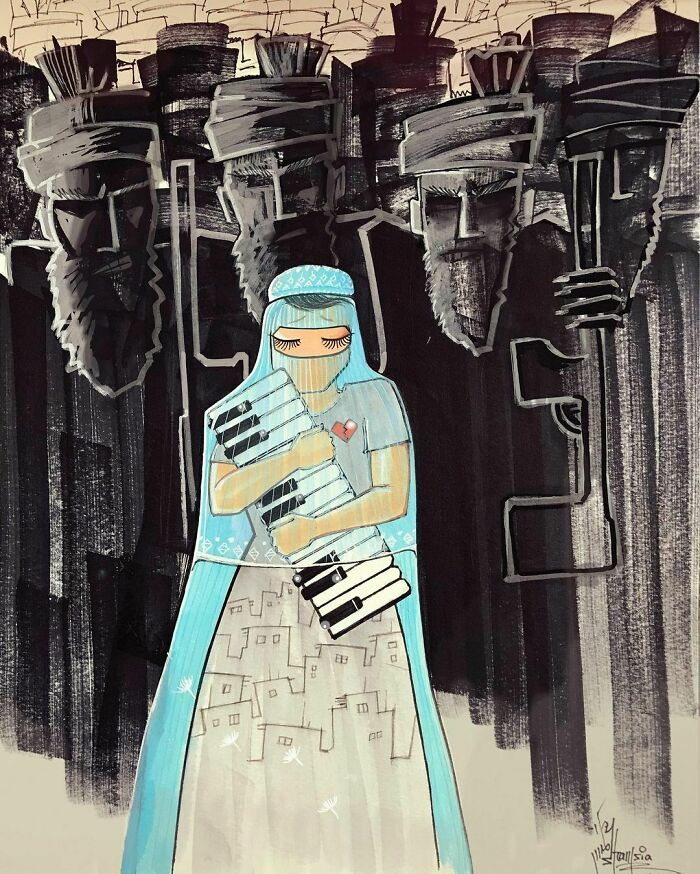 42 obras de arte tocantes da primeira artista de rua feminina do Afeganistão, Shamsia Hassani 44