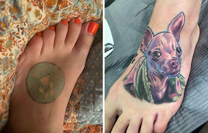 38 pessoas que cobriram suas tatuagens de forma para lá de criativas 3