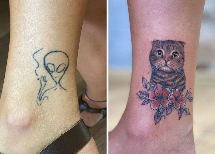 38 pessoas que cobriram suas tatuagens de forma para lá de criativas 5