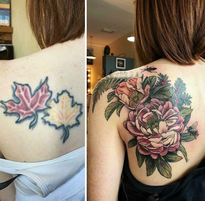 38 pessoas que cobriram suas tatuagens de forma para lá de criativas 6