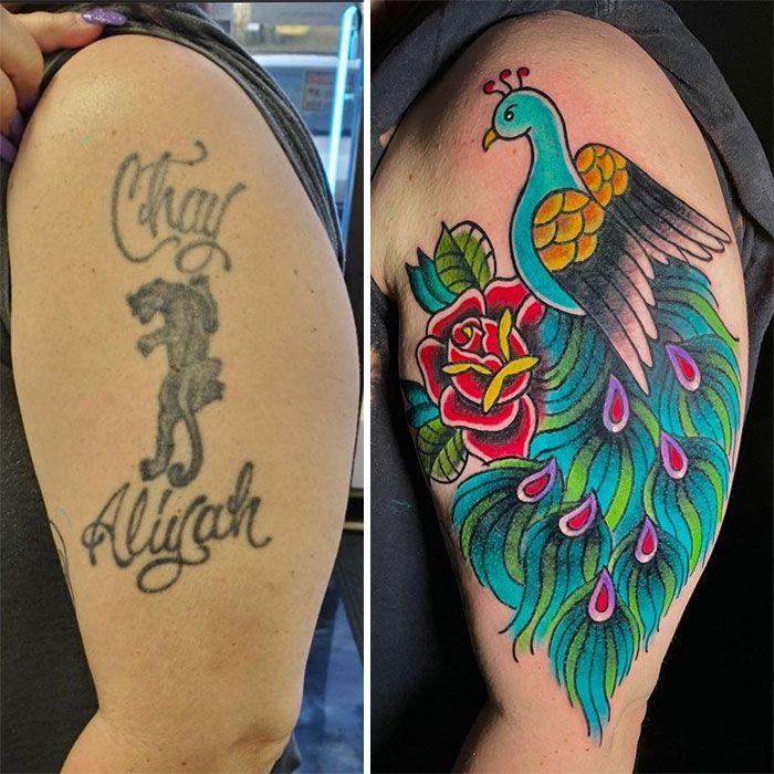 38 pessoas que cobriram suas tatuagens de forma para lá de criativas 12