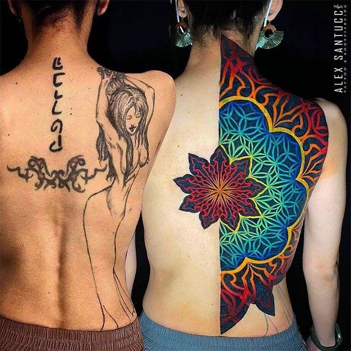 38 pessoas que cobriram suas tatuagens de forma para lá de criativas 19