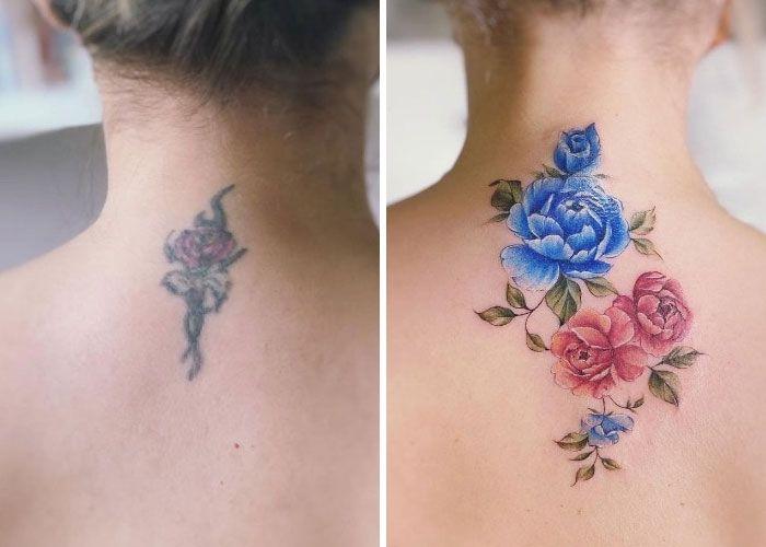 38 pessoas que cobriram suas tatuagens de forma para lá de criativas 21