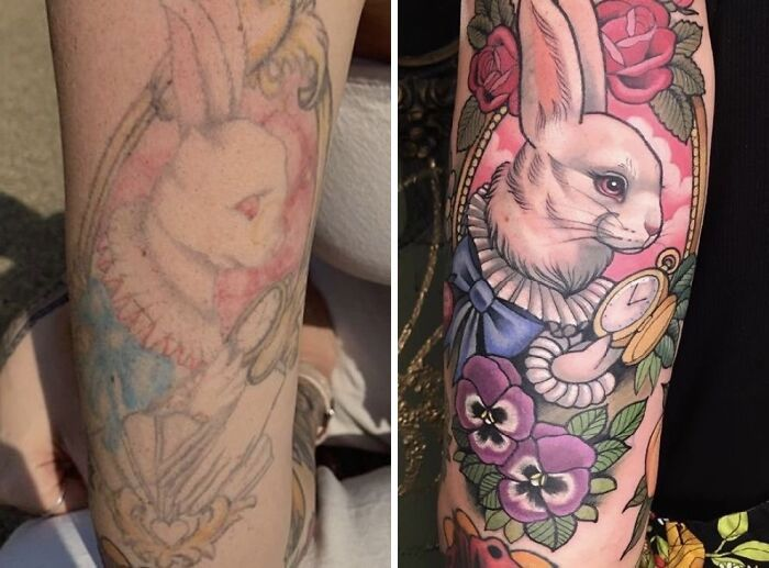 38 pessoas que cobriram suas tatuagens de forma para lá de criativas 25