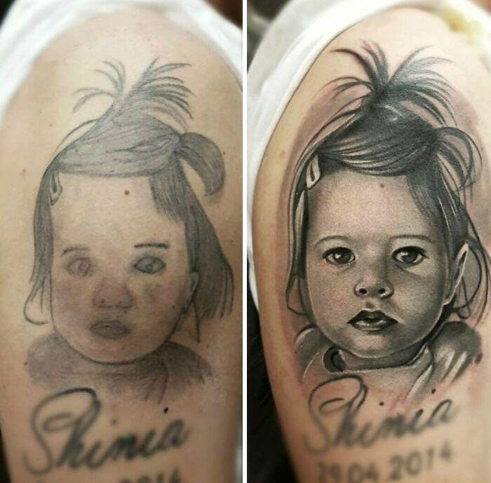 38 pessoas que cobriram suas tatuagens de forma para lá de criativas 27