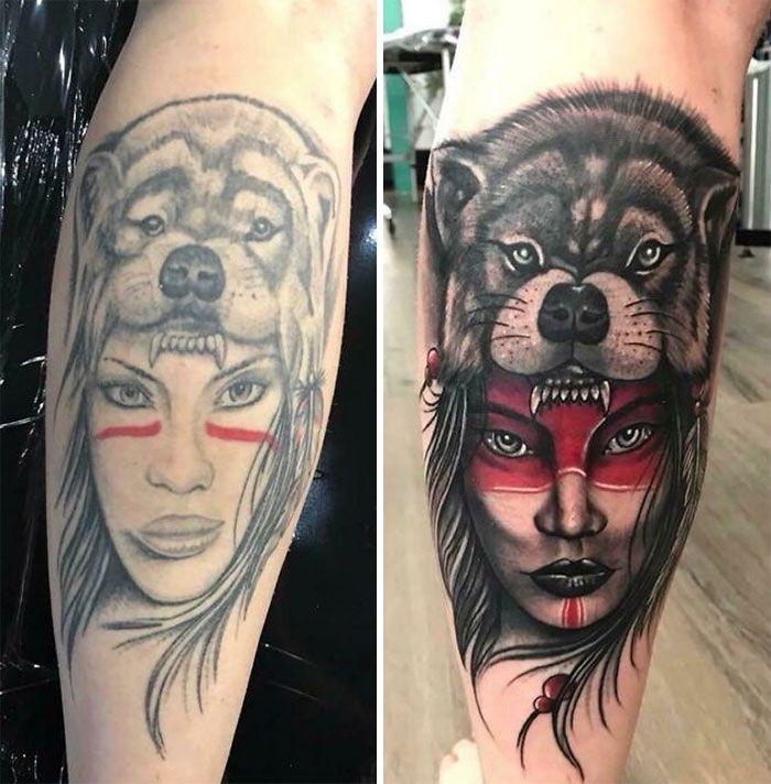 38 pessoas que cobriram suas tatuagens de forma para lá de criativas 29