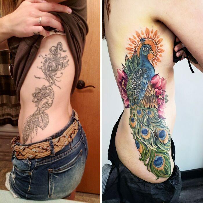 38 pessoas que cobriram suas tatuagens de forma para lá de criativas 30