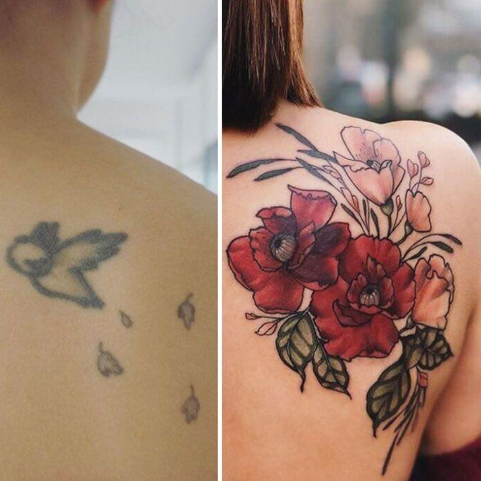38 pessoas que cobriram suas tatuagens de forma para lá de criativas 33