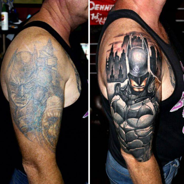38 pessoas que cobriram suas tatuagens de forma para lá de criativas 34