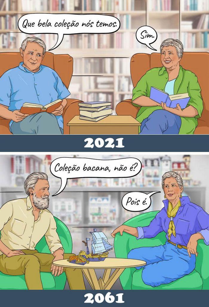 16 quadrinhos de como imaginamos que será a nossa geração quando nos tornamos avós 12