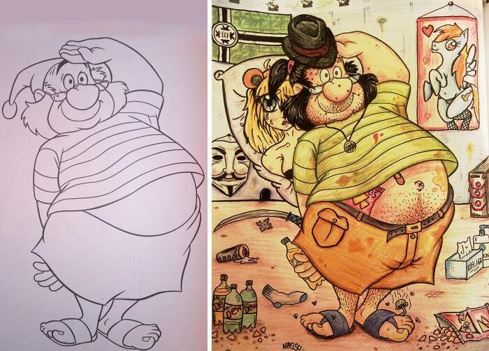 47 vezes que livros de colorir infantis foram corrompidos por adultos 34