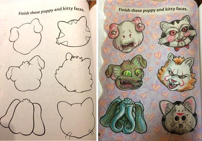 47 vezes que livros de colorir infantis foram corrompidos por adultos 45