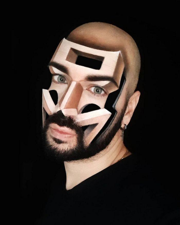 Artista italiano usa seu corpo como uma tela para criar ilusões ópticas realistas (42 fotos) 8