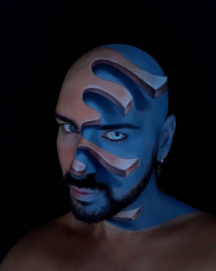 Artista italiano usa seu corpo como uma tela para criar ilusões ópticas realistas (42 fotos) 14