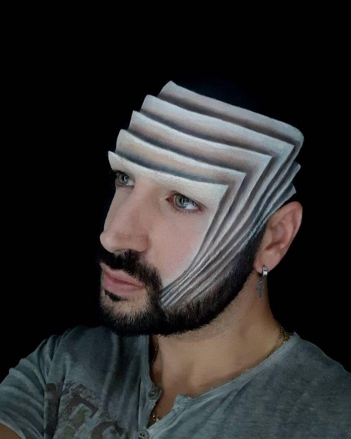 Artista italiano usa seu corpo como uma tela para criar ilusões ópticas realistas (42 fotos) 17