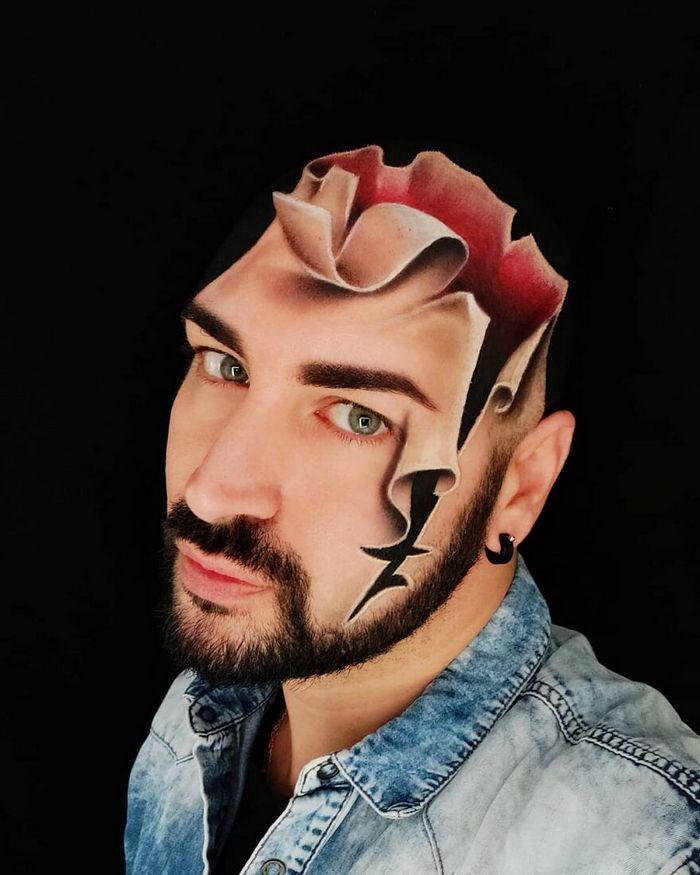 Artista italiano usa seu corpo como uma tela para criar ilusões ópticas realistas (42 fotos) 24