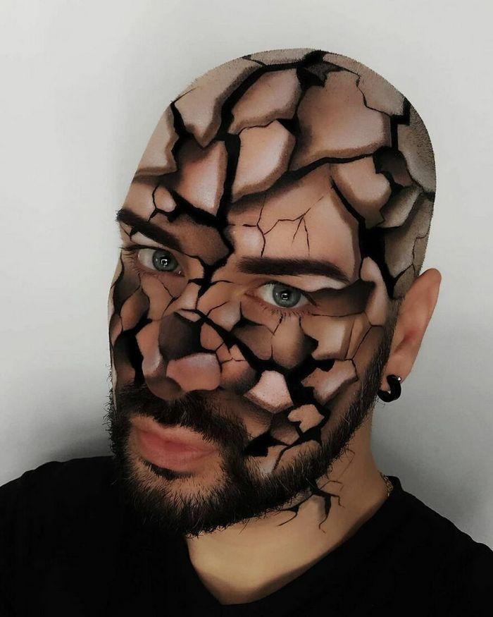 Artista italiano usa seu corpo como uma tela para criar ilusões ópticas realistas (42 fotos) 27