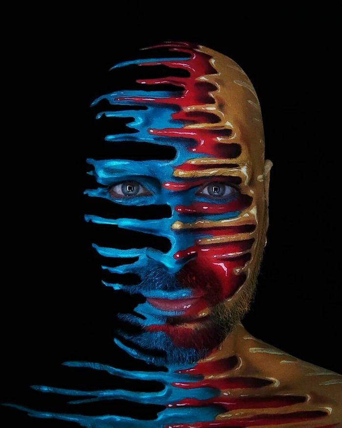 Artista italiano usa seu corpo como uma tela para criar ilusões ópticas realistas (42 fotos) 35
