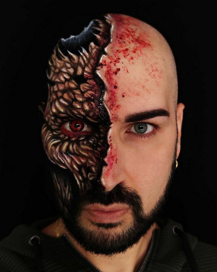 Artista italiano usa seu corpo como uma tela para criar ilusões ópticas realistas (42 fotos) 37