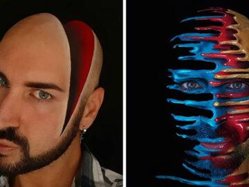 Artista italiano usa seu corpo como uma tela para criar ilusões ópticas realistas (42 fotos) 2