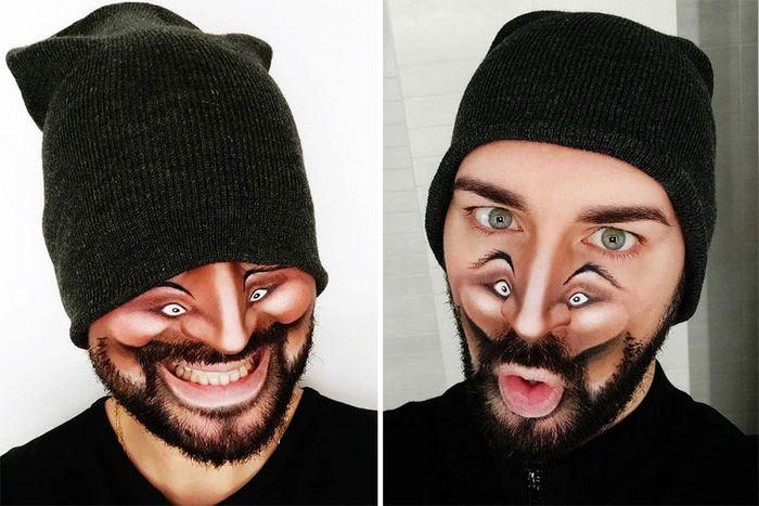 Artista italiano usa seu corpo como uma tela para criar ilusões ópticas realistas (42 fotos) 43
