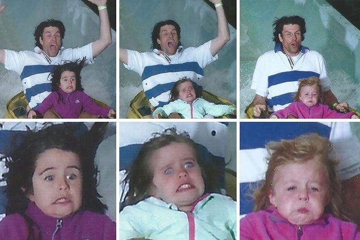 45 fotos hilárias de pessoas que se divertiram além da conta na montanha-russa 26