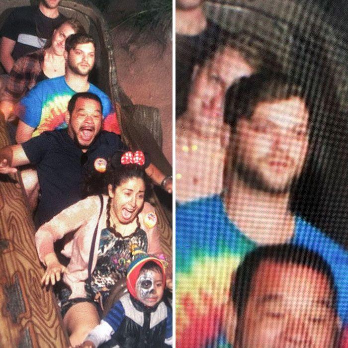 45 fotos hilárias de pessoas que se divertiram além da conta na montanha-russa 33