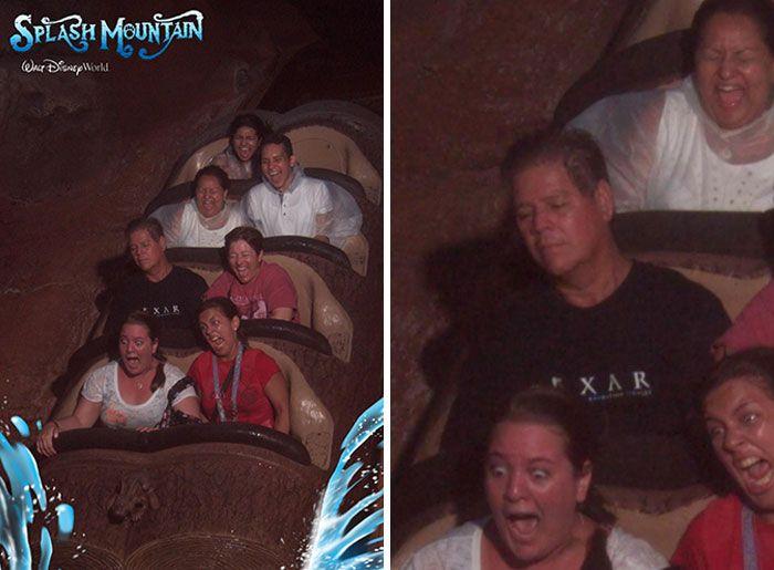 45 fotos hilárias de pessoas que se divertiram além da conta na montanha-russa 39