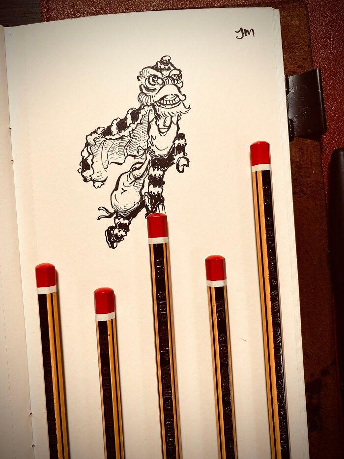 36 ilustrações que interagem com objetos do dia a dia 9