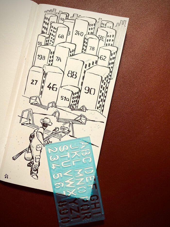 36 ilustrações que interagem com objetos do dia a dia 14