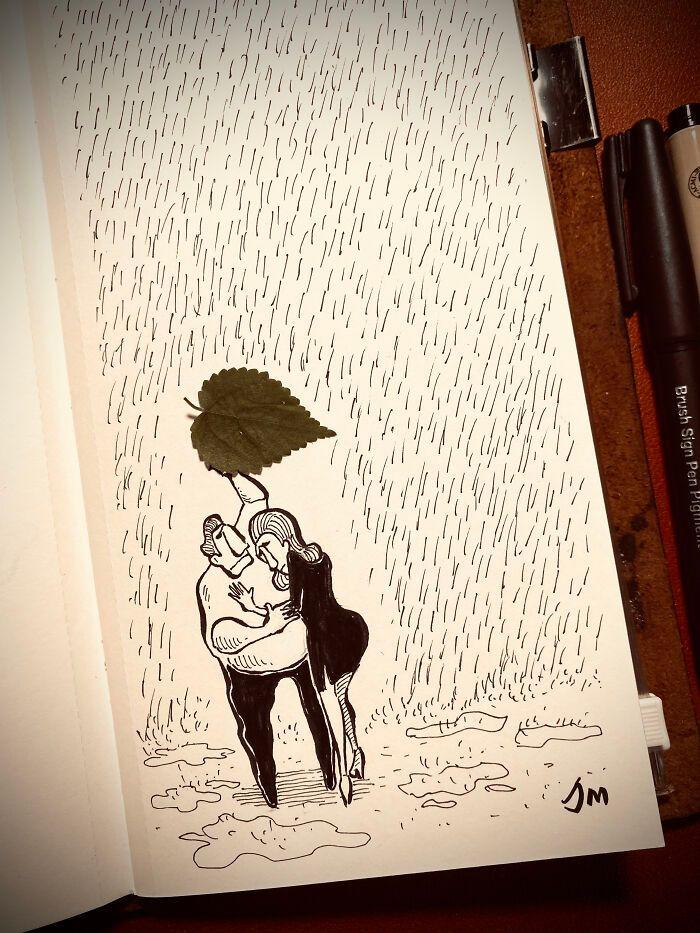 36 ilustrações que interagem com objetos do dia a dia 21