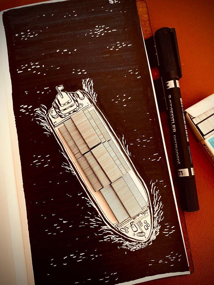 36 ilustrações que interagem com objetos do dia a dia 27