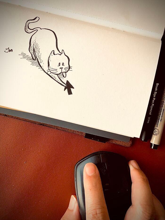 36 ilustrações que interagem com objetos do dia a dia 29