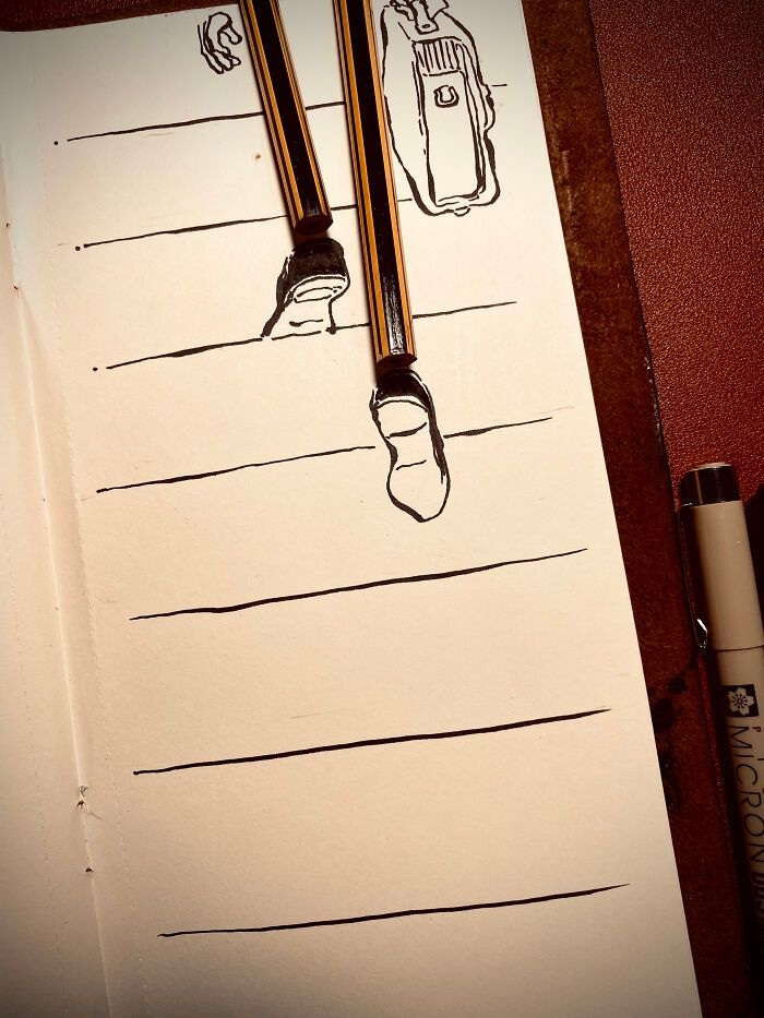 36 ilustrações que interagem com objetos do dia a dia 33