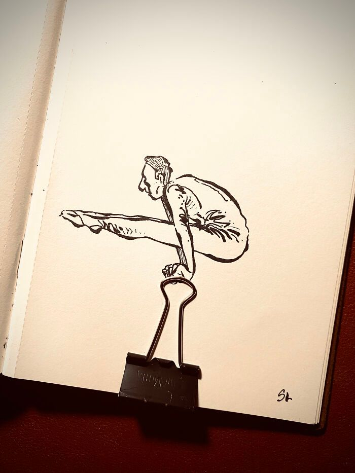 36 ilustrações que interagem com objetos do dia a dia 37