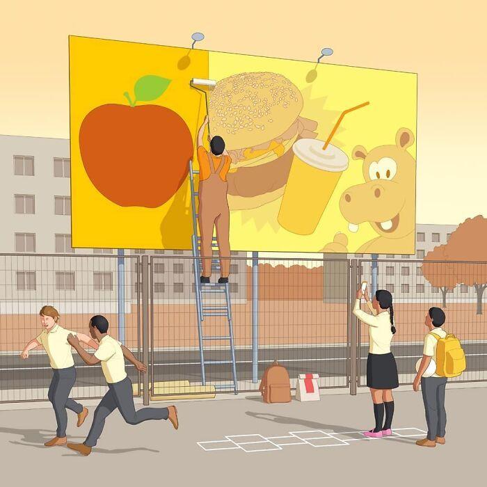 49 ilustrações que mostram o que há de errado com nossa sociedade 14