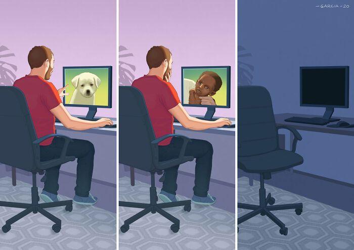 49 ilustrações que mostram o que há de errado com nossa sociedade 40