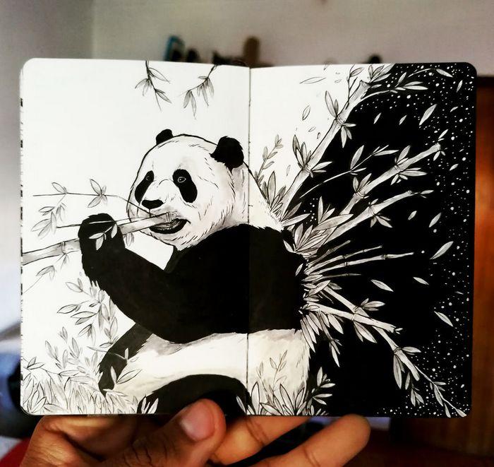 Ilustrador combina animais, pessoas e o céu noturno para criar arte mágica (26 fotos) 4