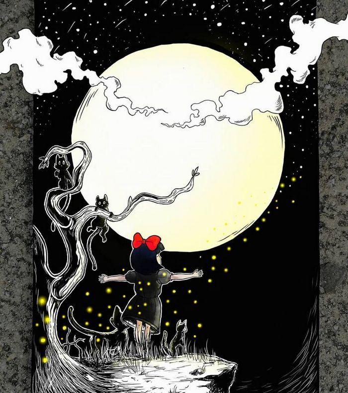 Ilustrador combina animais, pessoas e o céu noturno para criar arte mágica (26 fotos) 8