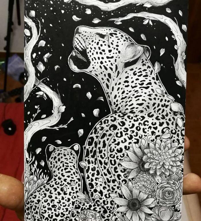 Ilustrador combina animais, pessoas e o céu noturno para criar arte mágica (26 fotos) 9