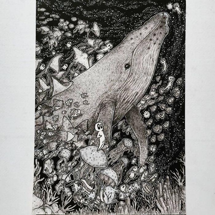 Ilustrador combina animais, pessoas e o céu noturno para criar arte mágica (26 fotos) 14