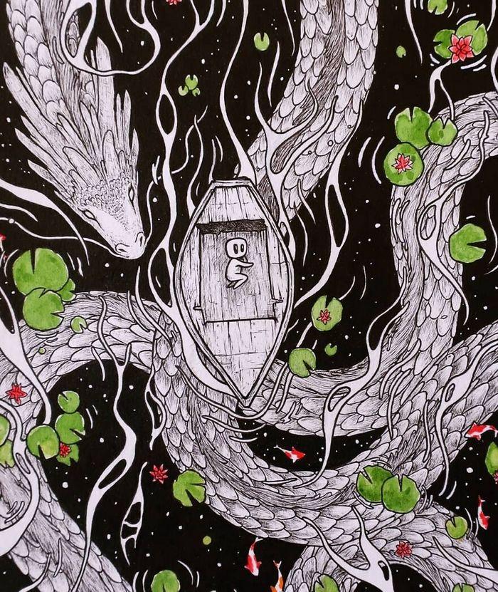 Ilustrador combina animais, pessoas e o céu noturno para criar arte mágica (26 fotos) 15