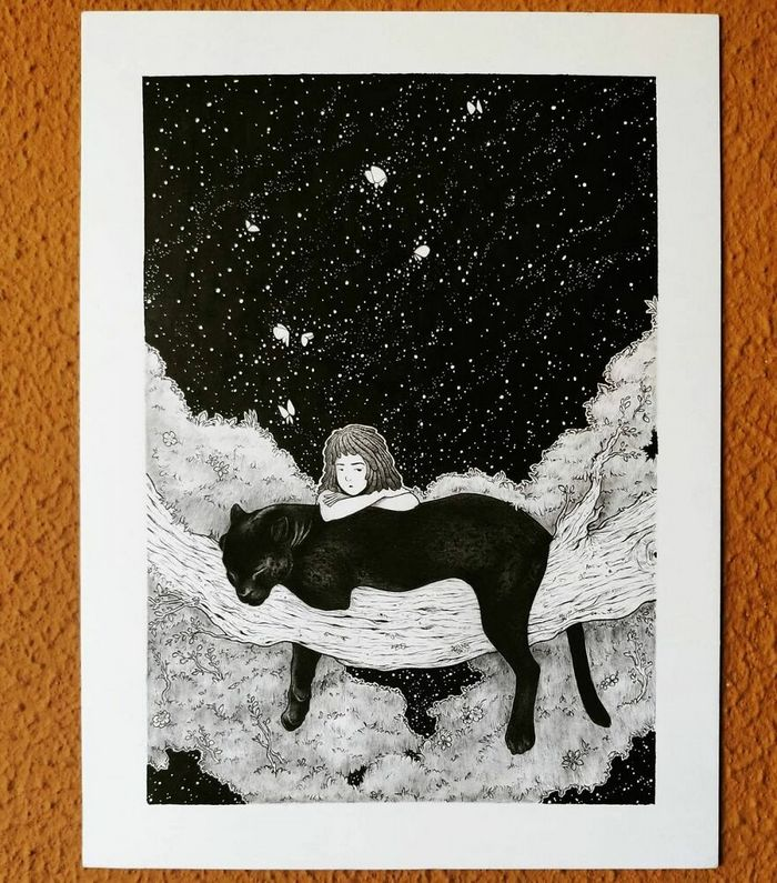 Ilustrador combina animais, pessoas e o céu noturno para criar arte mágica (26 fotos) 16