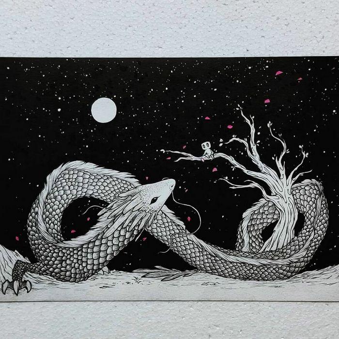 Ilustrador combina animais, pessoas e o céu noturno para criar arte mágica (26 fotos) 17