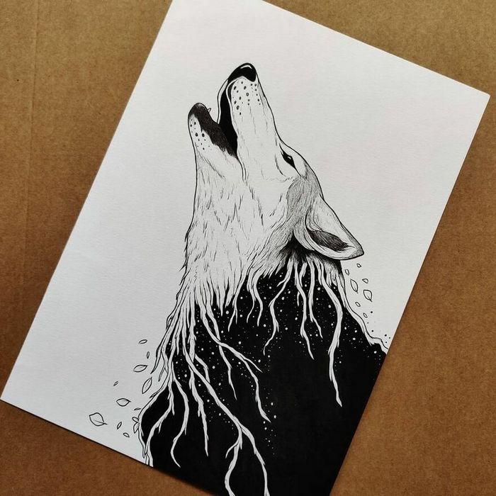 Ilustrador combina animais, pessoas e o céu noturno para criar arte mágica (26 fotos) 20